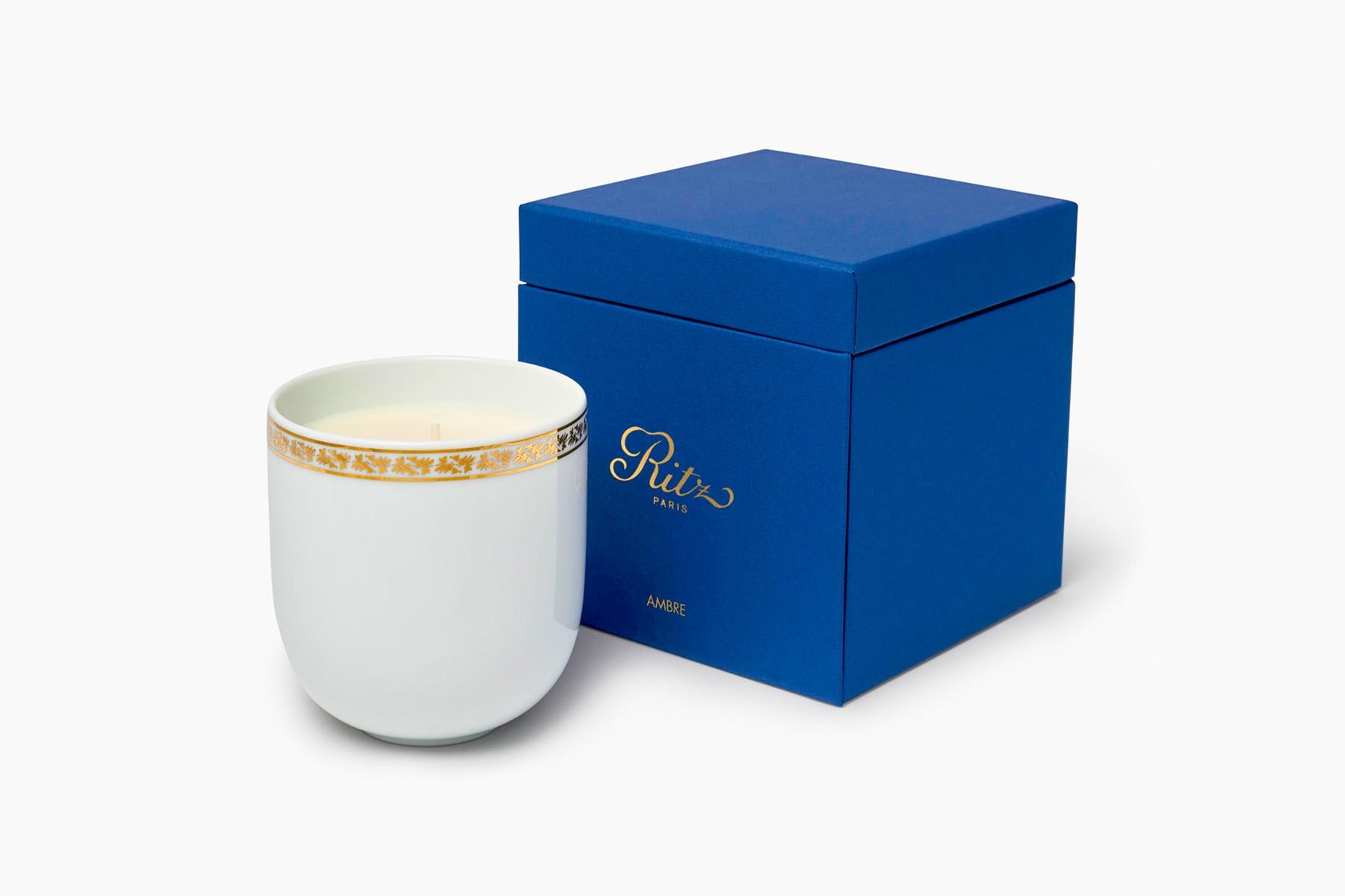 Ritz Paris porcelain candle