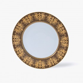 Dessert plate, 'Imperial' Collection, Taupe