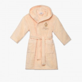 Children's peach bathrobe