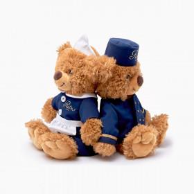 Set of 2 Ritz Paris teddy bears
