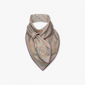 Stained Glass Collection, Taupe Scarf, 90 x 90 cm