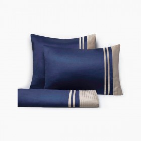 Set of Vendôme Sheets, Navy & Havana
