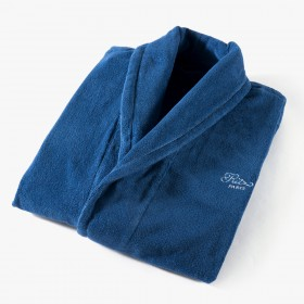 Women's bathrobe, Yachting collection, blue