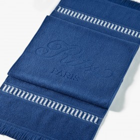 Blue sporting towel