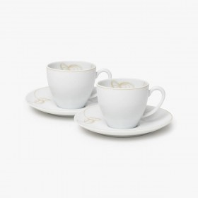 Set of Coffee Cup and Saucer