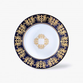 Decorated underplate, 'Imperial' Collection, Blue