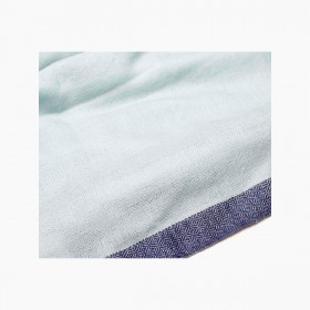 Women's cashmere stole Acqua and Navy