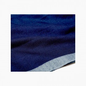 Women's cashmere stole Navy and Acqua