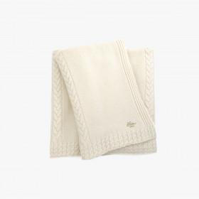 Cashmere throw, Ivory