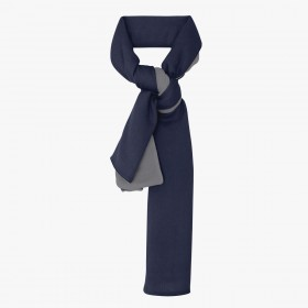 Reversible Cachemere Stole Navy and Lavender