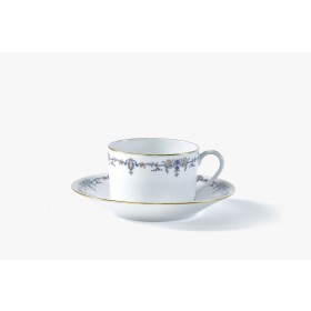 Set of 2 tea cups and saucer, 'Marthe' collection
