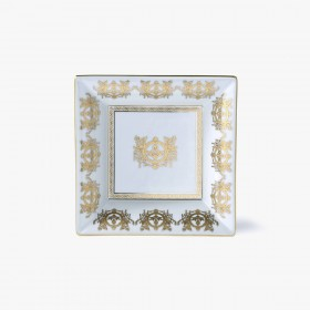 White 'Imperial' Collection change tray with white background 18,5 x 18,5 cm