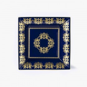Blue 'Imperial' Collection change tray with blue background 30 x 30 cm