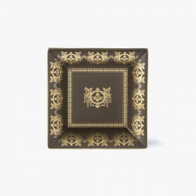 Taupe 'Imperial' Collection change tray with taupe background 18,5 x 18,5 cm