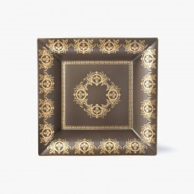Taupe 'Imperial' Collection change tray with taupe background 30 x 30 cm