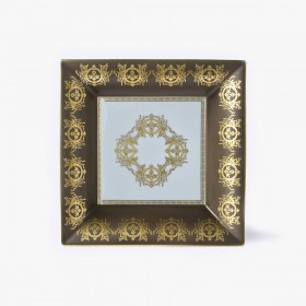 Taupe 'Imperial' Collection change tray with white background 30 x 30 cm