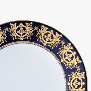 Large dinner plate, 'Imperial' Collection, Blue