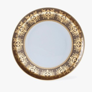 Pie plate, 'Imperial' Collection, Taupe
