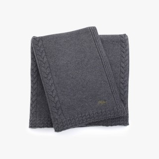 Cashmere throw, Grey