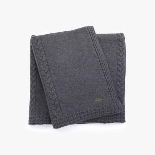 Cashmere throw, Grey