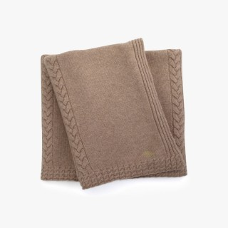 Cashmere throw, Taupe