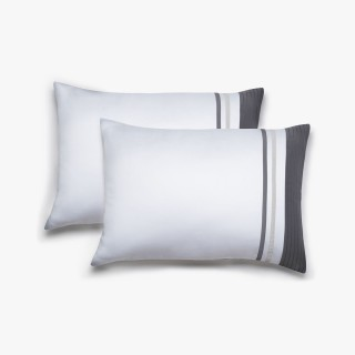 Set of 2 Vendôme white rectangular pillowcases