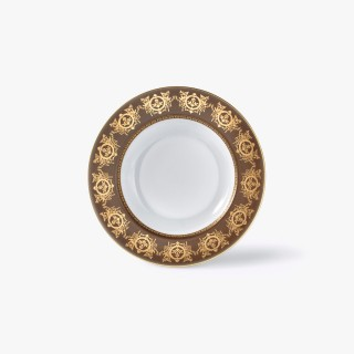 Rim soup plate, 'Imperial' Collection, Taupe