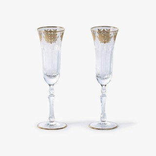 2 Champagne Glasses Set, Imperial Collection
