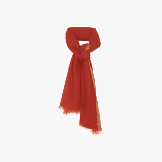 Women's cashmere stole Coral and Salmon