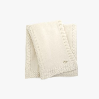 Cashmere throw, Ivory