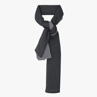 Reversible Cachemere Stole Charcoal and Aluminium