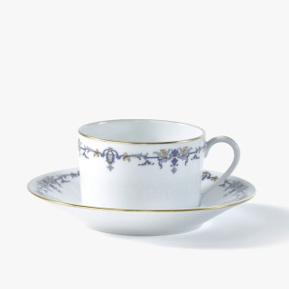 Tea cup and saucer, 'Marthe' Collection