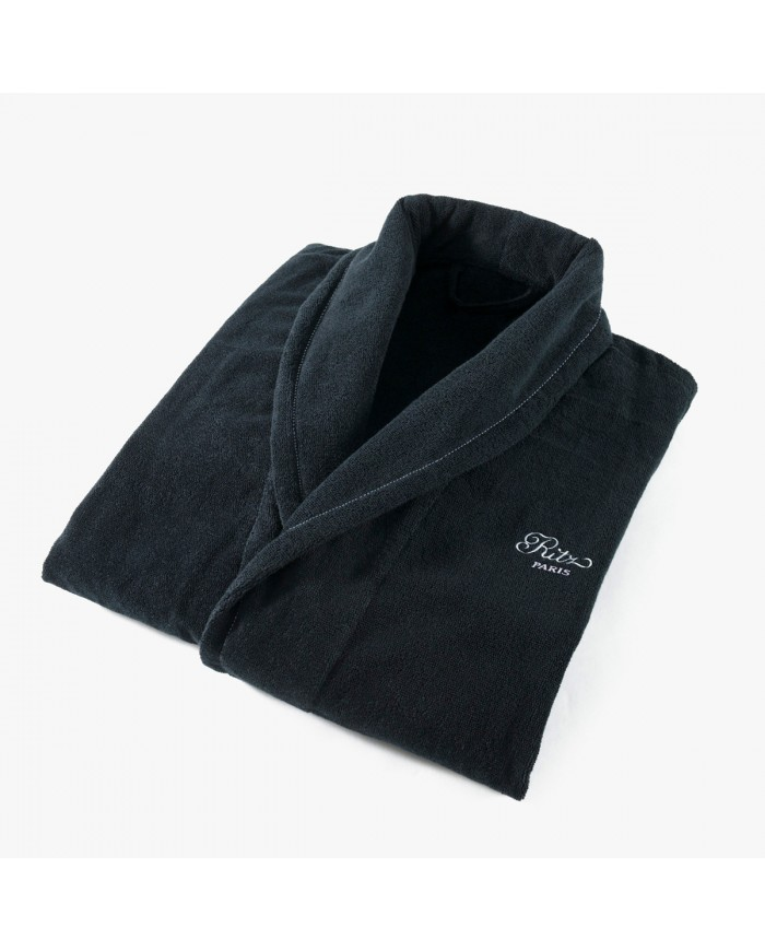 Men's bathrobe, Yachting collection, black