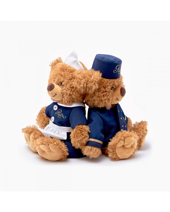 Set of 2 Ritz Paris teddy bears