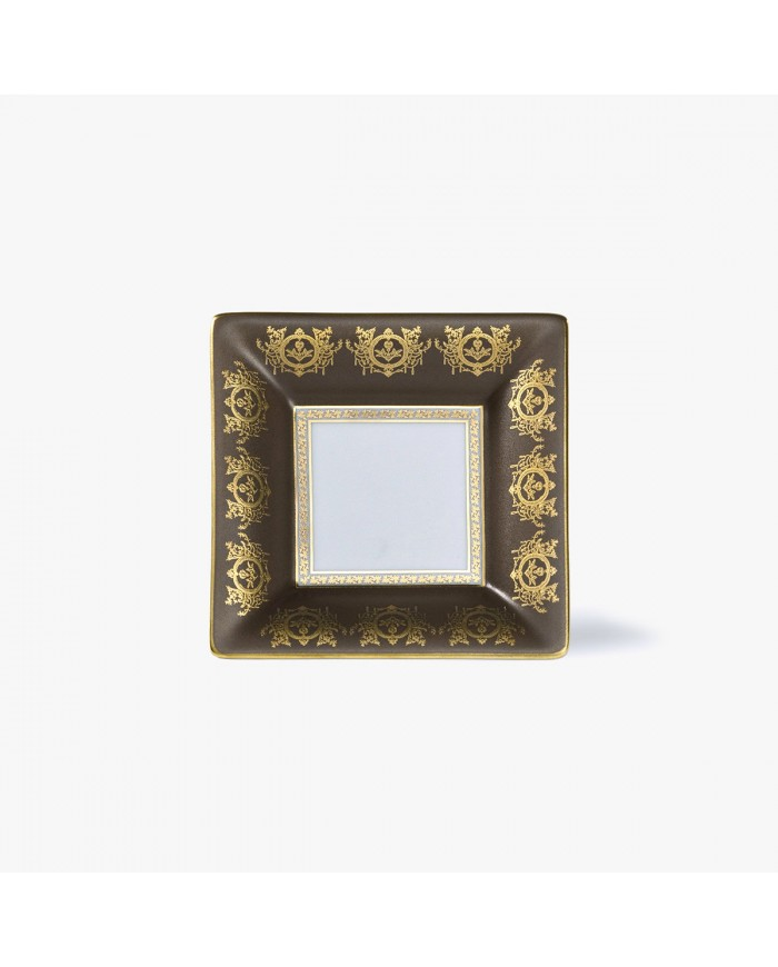 Taupe 'Imperial' Collection change tray with white background 10 x 10 cm