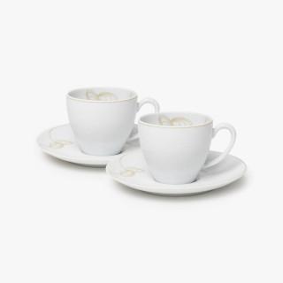 Tasse et soucoupe à café